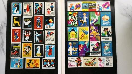 50一一70年代火柴贴纸、宣传画、实用美术。82年版,上海人民美术出版社《外国火柴贴纸专辑》