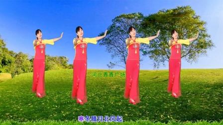 经典民歌广场舞《小曲好唱口难开》简单16步,优美好学