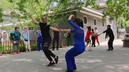 吉特巴双人对跳,节奏动感,动作简单大气,越看越好看