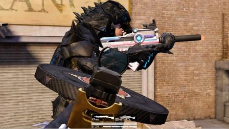 和平精英:突变团竞 队友身穿哥斯拉套装 侠客的背包背着好尴尬