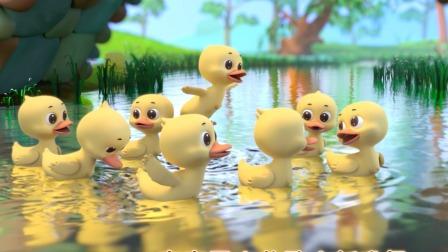 门前大桥下游过一群鸭,快来数一数多少鸭