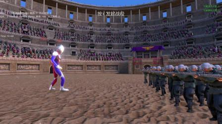 史诗战争模拟器:一名迪迦奥特曼VS一百名机枪士兵,谁会获胜呢?