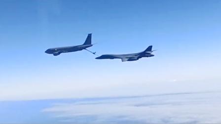 """实拍:美国轰炸机在俄国界""""空中加油""""遭拦截 可环球不着陆飞行"""