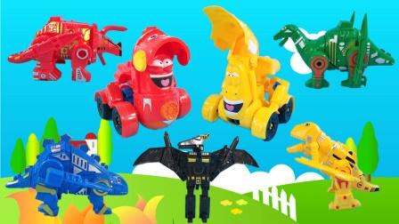 爆笑虫子去恐龙积木乐园,组建5只积木恐龙,霸王龙翼龙三角龙