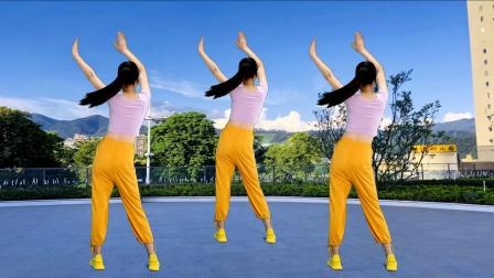 大众燃脂健身操,原地扭腰瘦身操,简单有效,背面演示