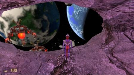 迪迦奥特曼在陨石洞里玩,怪兽来了怎么办?