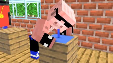 我的世界MC动画:猪人在课堂上睡觉流口水