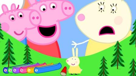 小猪佩奇和兔小姐坐着大船去哪里?汪汪队和恐龙可以一起去吗?