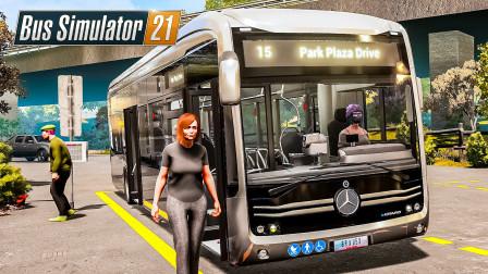 巴士模拟21 天使海岸 #23:110kph爆速大面包 驾驶ECitaro横冲直撞 | Bus Simulator 21