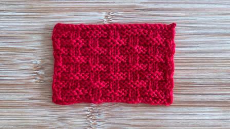 棒针席纹花样,只用上下针编织,立体有层次,织男士织围巾很帅气