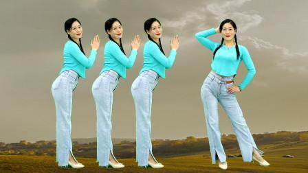 经典情歌对唱广场舞《恼人的秋风》我随风儿去,不怕秋风起!