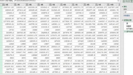 excelPQ转换一维表视频:表格行列转置首行用作标题逆透视列操作