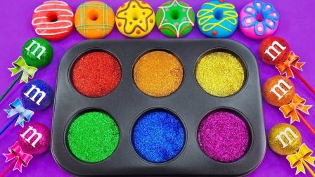 趣味彩泥DIY,各种颜色的甜甜圈会变成什么
