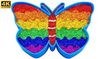 趣味手工:用彩泥和金粉做出漂亮的蝴蝶