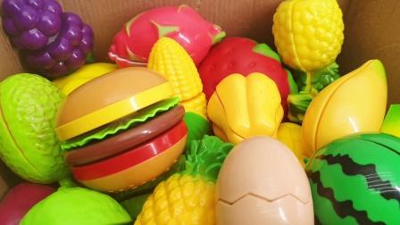 一起来切水果吧 汉堡热狗肠面包切切乐亲子互动玩具