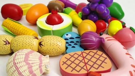 水果切切乐彩色早教玩具 一起来切牛排切大冬瓜