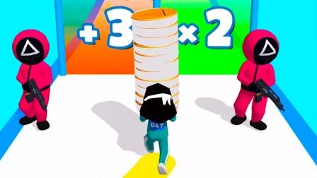 鱿鱼游戏:小妖收集糖饼赚外快,玻璃桥变成了棒棒糖桥!