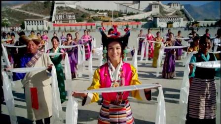 藏族风情 西藏新风光《洗衣歌》广场舞表演舞台LED背景