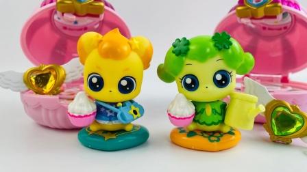 奇妙萌可惊喜镜盒盲盒玩具开箱,盼盼萌可和勇气萌可换装!