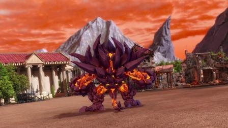 《钶龙战记2》:保护村庄,星曜、赤炎合作打败熔岩怪