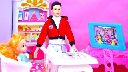 肯成游戏迷芭比只能吃泡面
