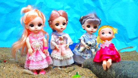 小芭比和小伙伴们去海边玩