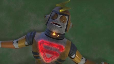 机器人打架打到一半,突然没电了
