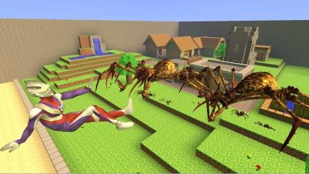 迪迦看见蜘蛛怪兽害怕了,他怎么那么胆小?