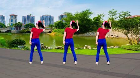 广场舞《杏花落》火爆网络流行舞,动感轻松易学,背面示范