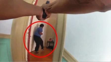 实拍:美国情侣因洗衣服吵架报警 男友持刀拒捕被击毙!