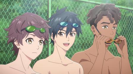 游泳比赛开始,网滨以一敌六能否胜出?