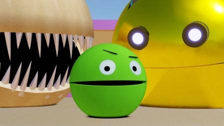 沙漠吃豆人VS绿色吃豆人