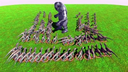 动物战争模拟:100只迅猛龙VS五郎巨人 侠客的显卡都在燃烧