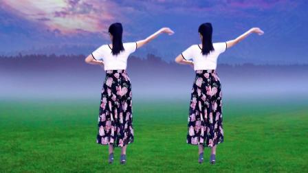 抒情广场舞《杏花落》背面演示 简单优美适合大众