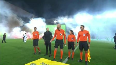球场似战场!法甲赛场又现骚乱 现场浓烟滚滚比赛被迫推迟开球