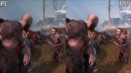 【游民星空】 《战神》PC版与PS5版画面对比