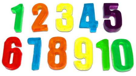 简单DIY彩虹树胶数字玩具