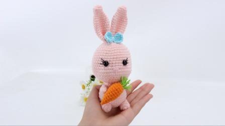 娟娟编织 抱着胡萝卜的两只可爱小兔子第二集