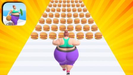 小姐姐吃汉堡,越吃越胖,结局比力气居然还输了?