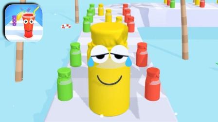 彩色果汁跑酷小游戏,你能得几分