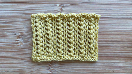 棒针别样辫子针,立体别致,简单好织,给男士织围巾很帅气