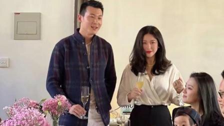 朱珠为爱女举办命名仪式,当众被老公王昀佳公主抱,夫妻俩好甜蜜