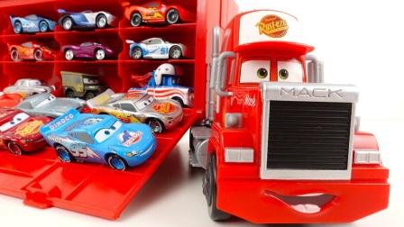 装饰赛车总动员的大卡车麦大叔玩具