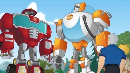 变形金刚之救援汽车人:城市里有岩浆,机器人快来!
