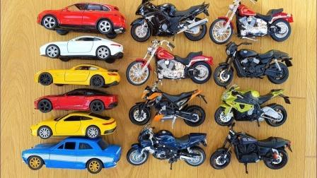 汽车和摩托车玩具拆箱试玩