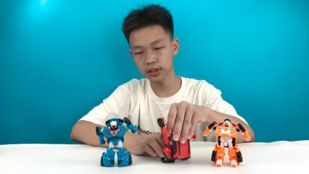 卡通益智可爱机器人变形玩具