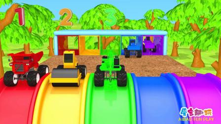 儿童卡通 挖掘机 卡车 压路机 推土机 拖拉机拆奇趣蛋 益智