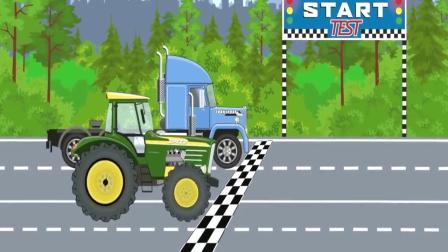 组装四辆小车子 卡车 推土机 吊车 货车 益智早教