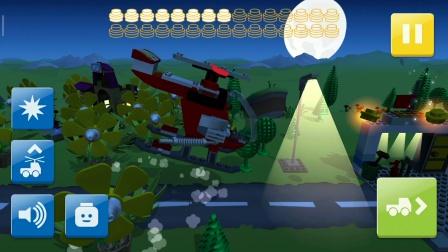 乐高:蓝西装人偶黑夜驾驶直升飞机闯关游戏分享