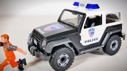 警车越野车开箱试玩